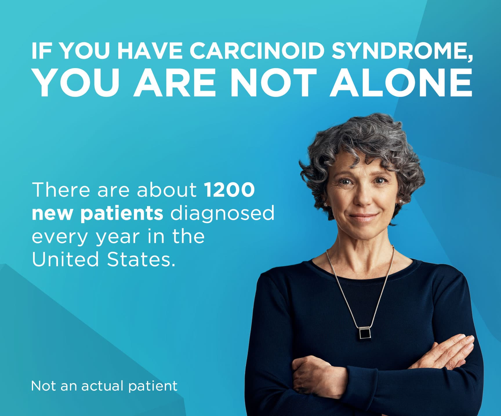 There are about 1,200 new patients diagnosed every year with carcinoid syndrome in the United States